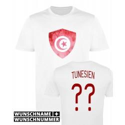 T-shirt Tunisie - Maillot football avec prénom et numéro