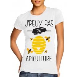 T-Shirt j'peux pas j'ai apiculture - Femme Cadeau abeille