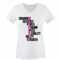 T-Shirt Crossfit - Femme COL V Sports