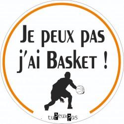 Stickers Je peux pas j'ai basketball