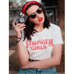 T-Shirt stronger girl - Femme idée cadeau stranger things
