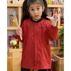 Blouse personnalisable avec prénom - Blouse scolaire maternelle bleu et rouge