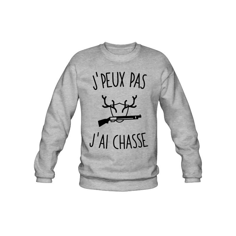 Tee Shirt Chasse pour Femme Je suis chasseresse Pas Besoin de th/érapie Taille Homme//Unisexe