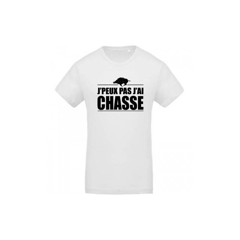 T-shirt j'peux pas j'ai chasse variante sanglier - cadeau chasseur homme