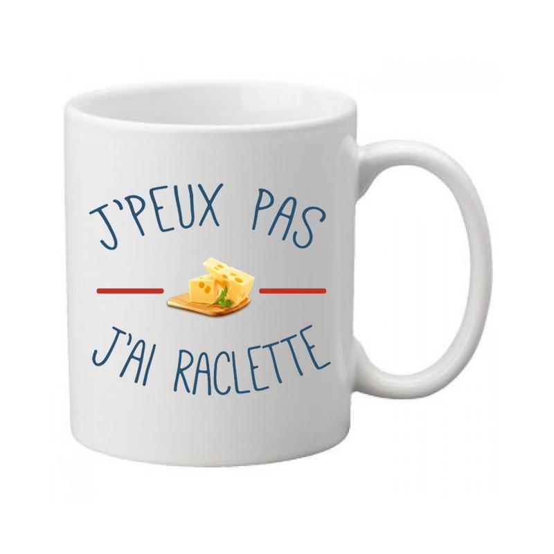 Mug j'peux pas j'ai raclette / Fromage - Tasse
