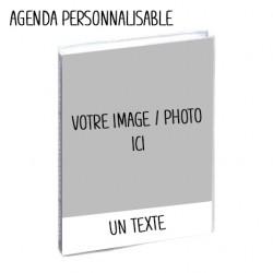 Agenda scolaire personnalisable 12x17cm - 1 jour par page idéal collège / lycée
