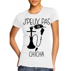 T-Shirt j'peux pas j'ai chicha - Femme Cadeau parfumé