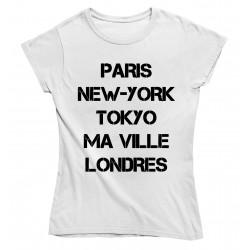 T-Shirt femme personnalisable avec le nom de ta ville préférée