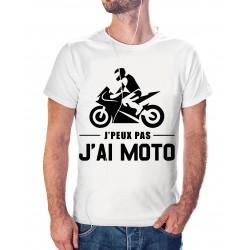 T-shirt j'peux pas j'ai moto - cadeau motard homme
