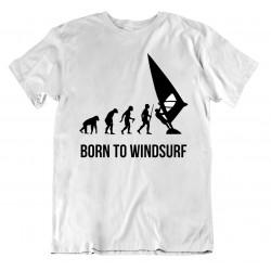 t-shirt Né pour le WindSurf - cadeau homme