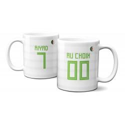 Mug Foot Algérie avec nom et numéro au choix - Tasse en céramique café personnalisable