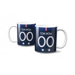 Mug Foot France avec nom et numéro au choix - Tasse en céramique café personnalisable