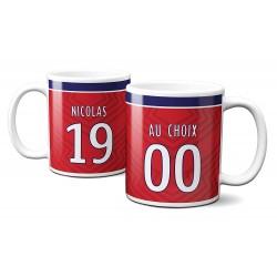 Mug Foot Lille avec nom et numéro au choix - Tasse en céramique café personnalisable