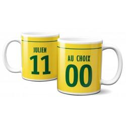 Mug Foot Nantes avec nom et numéro au choix - Tasse en céramique café personnalisabl