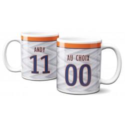 Mug Foot Montpellier avec nom et numéro au choix - Tasse en céramique café personnalisabl