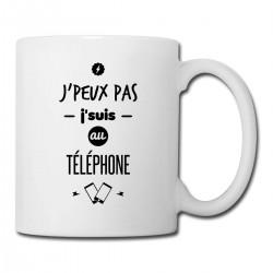 Mug Je Peux Pas Je suis au téléphone  - Tasse en céramique café