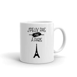 Mug je Peux Pas j Vais a Paris  - Tasse en céramique café