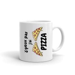 Mug je Peux Pas j'ai Pizza - Tasse en céramique café
