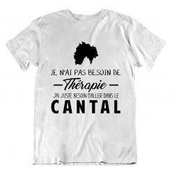 t-shirt Cantal pas besoin de thérapie - cadeau homme repos vacances