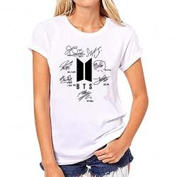 T-Shirt Bangtan Boys Femmes BTS Army Floral Top Tee Shirt Suga Jin Jimin Jung Kook J-Hope Rap-Monster V