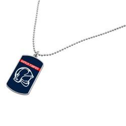 Plaque Militaire avec chaine - Sapeur Pompier pendentif