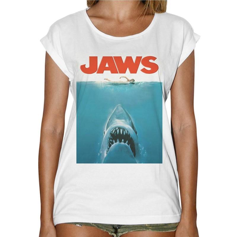 T-Shirt pour femme affiche Jaws Les Dents de la mer