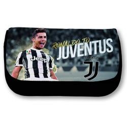 Trousse Cristiano Ronaldo Juventus - scolaire, trousse à crayons ou à maquillage