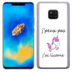 Coque J'peux pas j'ai licorne personnalisable Huawei Mate