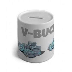 Tirelire En Céramique V-BUCKS -Drole monnaie virtuelle fortnite
