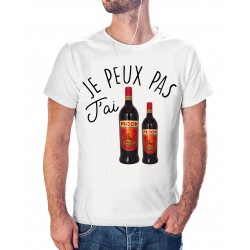 T-shirt j'peux pas j'ai picon bière - cadeau homme