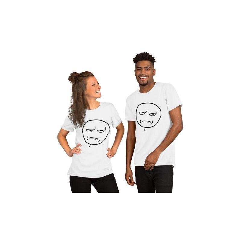T-Shirt Couple Troll Face assorti pour femme et homme Saint-Valentin Cadeau Anniversaire