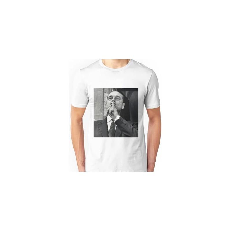 T-shirt Jacques Chirac Chut - Homme