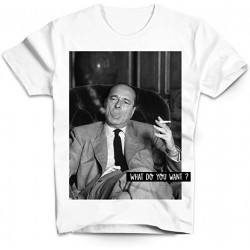 T-shirt Chirac What do you want - Homme