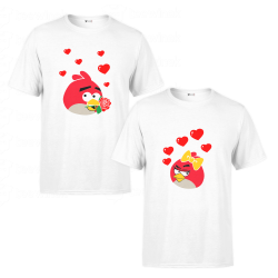 T-Shirt Couple Angry Birds - Cadeau duo