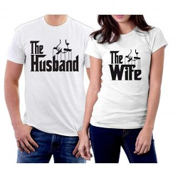 T-Shirt Couple The Husband et The wife inspiré du Parrain Cadeau duo amoureux