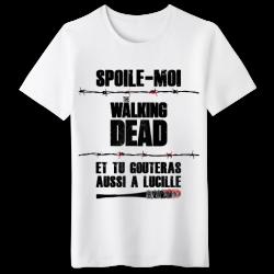 T-shirt Spoile moi Walking Dead et tu gouteras à Lucille - Negan Humour