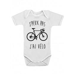 Body bébé J'peux pas j'ai vélo