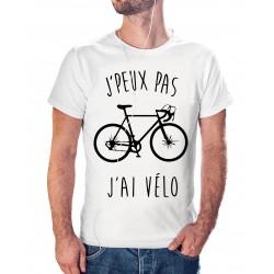 T-shirt j'peux pas j'ai vélo - cadeau homme