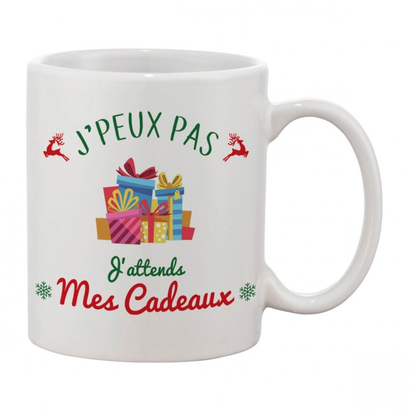 Mug J'peux pas J'attends Mes cadeaux - Cadeau tasse NOËL