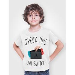 T-shirt Je peux pas j'ai Nintendo Switch - Cadeau enfant gamer