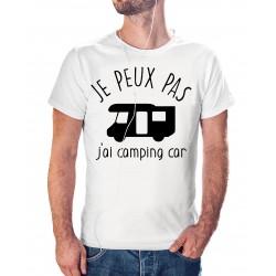 T-shirt j'peux pas j'ai camping car - cadeau homme voyage