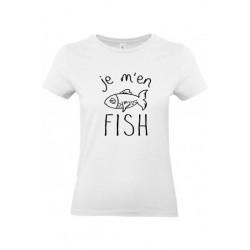 Tee-shirt je m'en fish femme col rond manches courtes