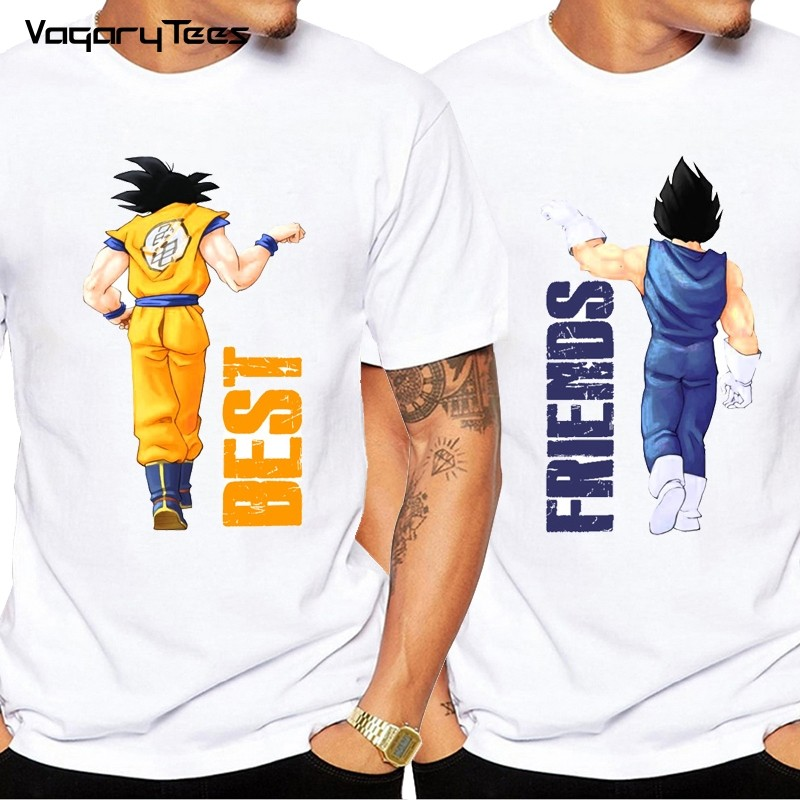 T-Shirt Duo Meilleur Ami - Dragon Ball Goku X Vegeta Best Friends