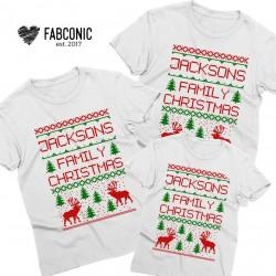 T-shirt Noël édition PullOver Nom personnalisable - Cadeau