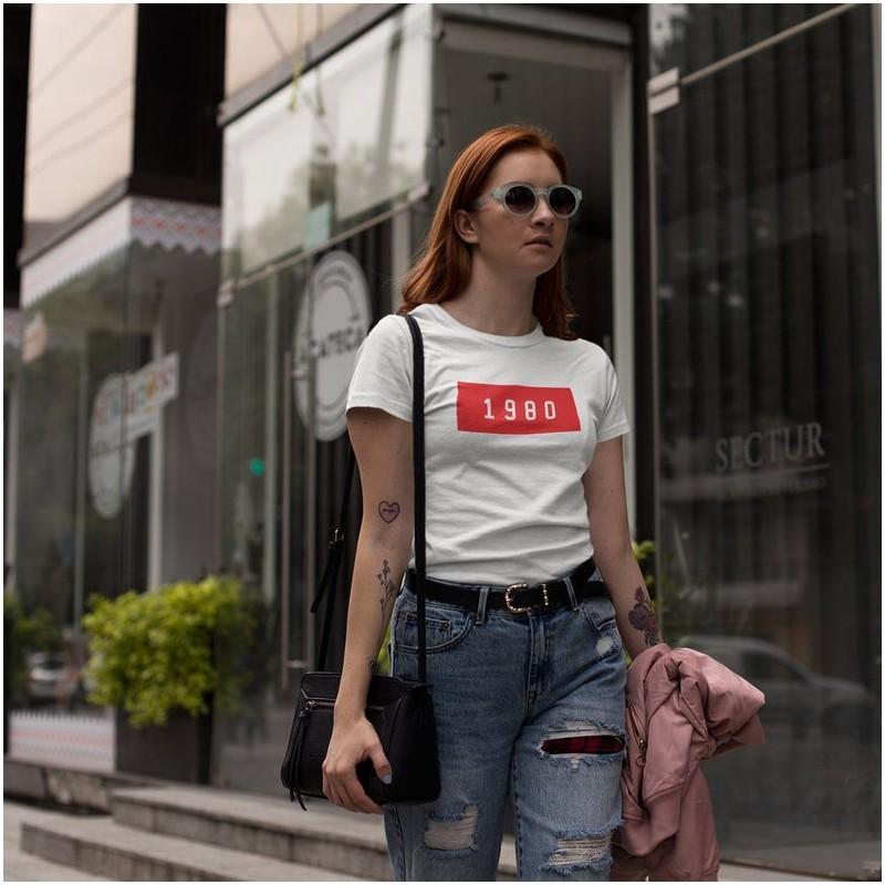 T-Shirt cadeau anniversaire N'importe quelle DATE  - Femme Cadeau