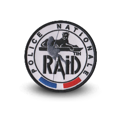 écusson Raid Police Nationale thermocollant
