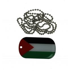 Plaque Militaire avec chaine - pendentif palestine