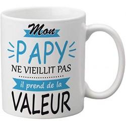 Mug mon papy ne vieillit pas il prends de la valeur - Tasse de café