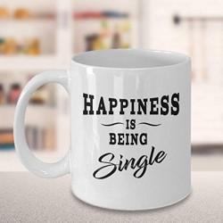 Mug Hapipiness is being single - Tasse cadeau célibataire / divorcée