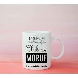 Mug Club de la morue - Tasse cadeau à personnaliser avec prénom